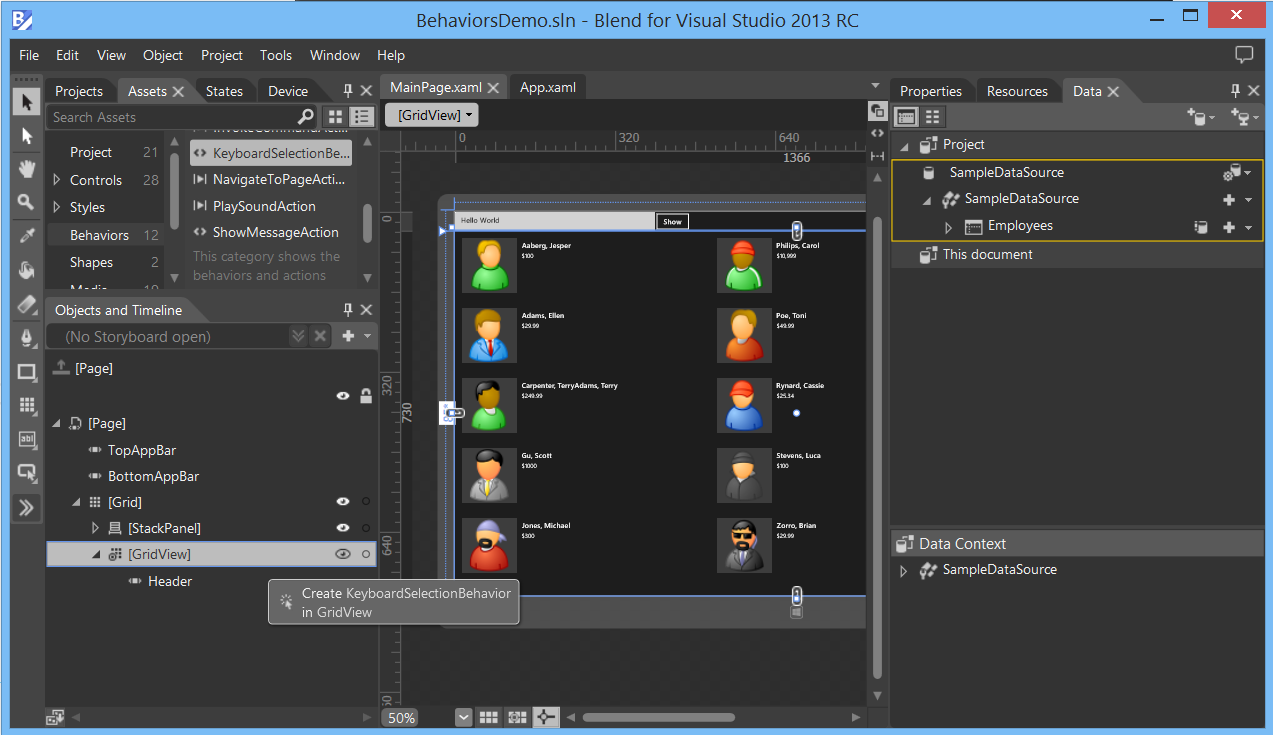 Windows 8 XAML Tips - Creating Blend Behaviors - Reflection IT
