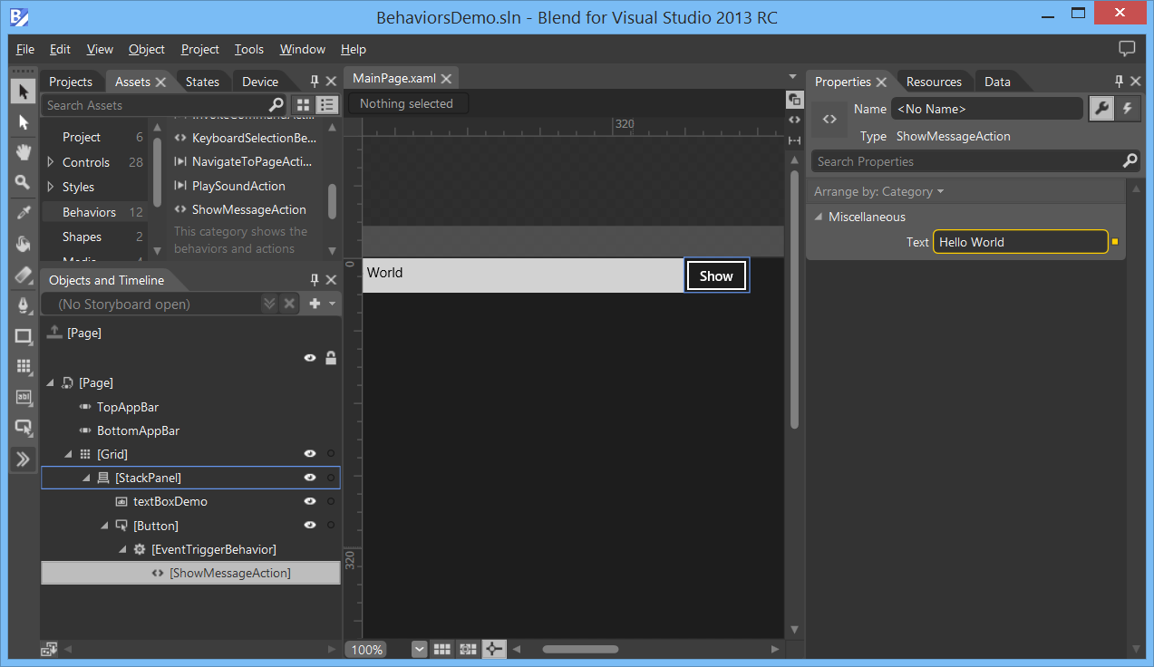 Windows 8 XAML Tips - Creating Blend Behaviors - Reflection IT