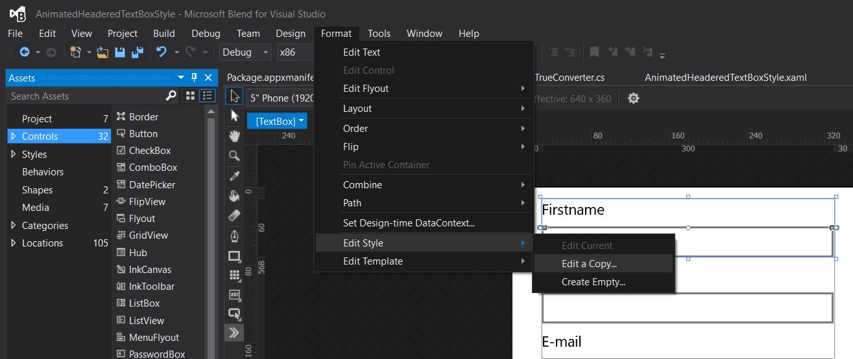 XAML Animated Headered TextBox Style - Reflection IT
